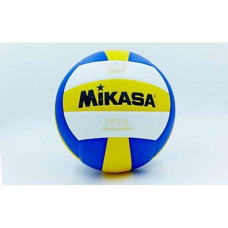 Мяч волейбольный Клееный PU MIKASA VB-0017 MV-210 (PU, №5, 5 сл., клееный)