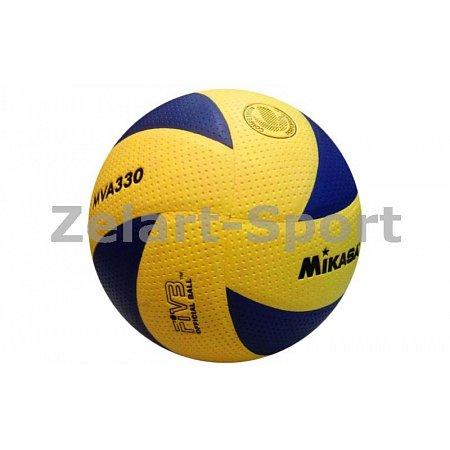 Мяч волейбольный Клееный PU MIKASA VB-1846 MVA-330 (PU, №5, 5 сл., клееный)