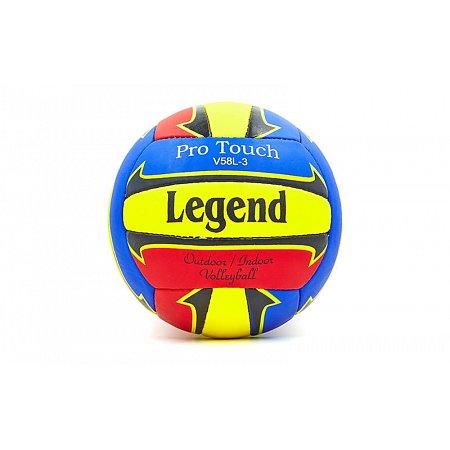 Мяч волейбольный PU LEGEND LG5186 (PU, №5, 3 слоя, сшит вручную)