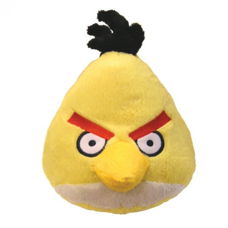Мягкая игрушка - ANGRY BIRDS (птичка желтая, озвуч., 12см), 90841
