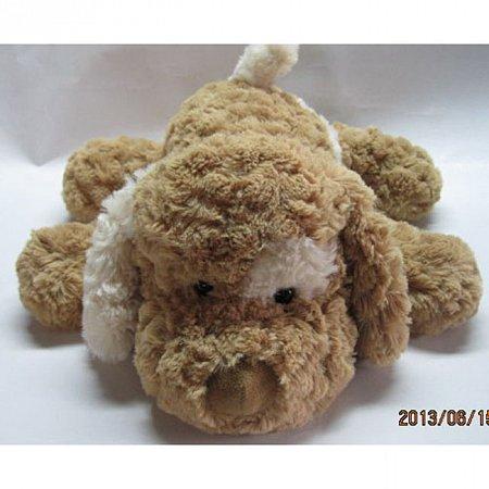 Мягкая игрушка Grand - СОБАКА (коричневая, белое ухо, 32 см), 3201GCC