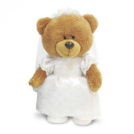 Мягкая игрушка Медведица в свадебном наряде (муз 24 см), Lava, медведица, LA8819-2