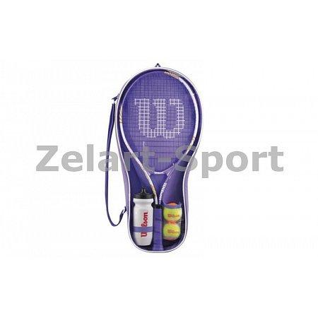 Набор для большого тенниса WILSON WRT294500 VENUS-SERENA STARTER SET (1рак+2мяча+бут. для воды, PVC)