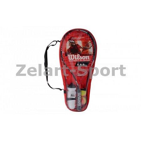 Набор для большого тенниса WILSON WRT298000 ROGER FEDERER (1рак+2мяча+бут. для воды, PVC-чехол, кр)