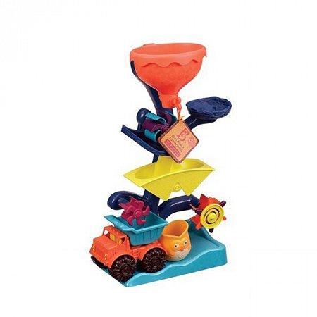 Набор для игры с песком и водой Мельница (в комплекте машинка, ведерко), Battat (BX1310Z)