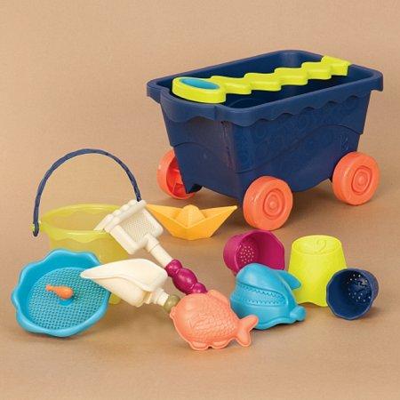 Набор для игры с песком и водой - ТЕЛЕЖКА ОКЕАН (11 предметов), Battat (BX1376Z)
