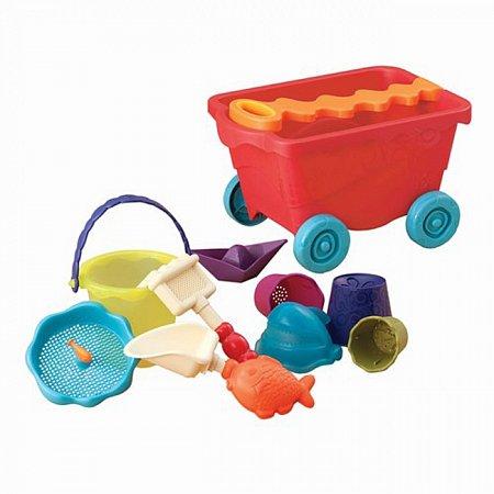 Набор для игры с песком и водой - ТЕЛЕЖКА ПОМИДОРЧИК (11 предметов), Battat (BX1375Z)