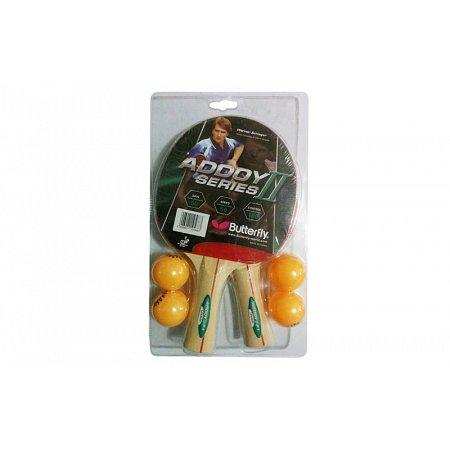 Набор для наст. тенниса BUTTERFLY (2рак+4шар) 16260-1 ADDOY II-F1 TT-BAT (древесина, резина)