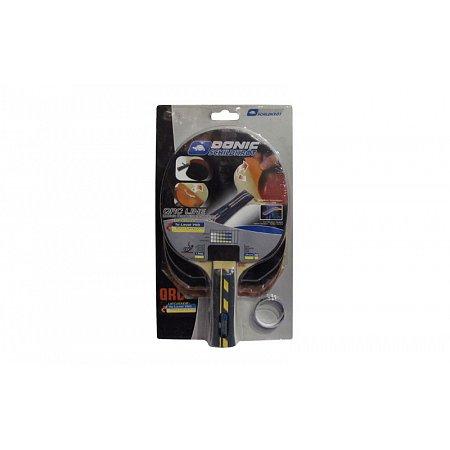Набор для наст. тенниса DONIC (1рак+2накл) LEVEL 500 MT-752545 BAT QRC (древесина, резина)