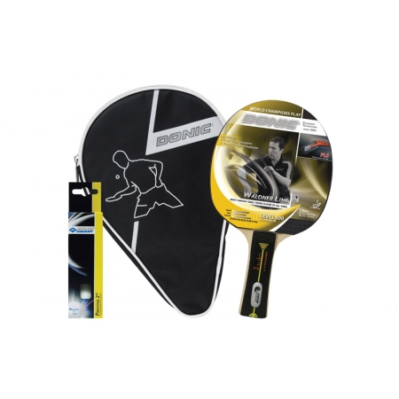 Набор для наст. тенниса DONIC (1рак+3шар+ NYчехол) LEVEL 500 MT-788700 SET (древес, резина, пластик)