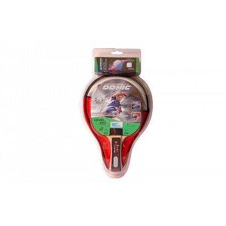 Набор для наст. тенниса DONIC (1рак+3шар+PVCчехол) LEVEL 400 MT-788631 WALDNER (древес, рез,пластик)