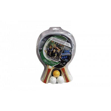 Набор для наст. тенниса DONIC (2рак+3шар+PVCчехол) LEVEL 400 MT-788476 TOP TEAM (древ,рез,пластик)
