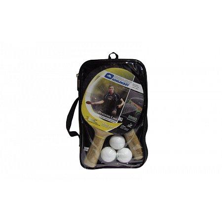 Набор для наст. тенниса DONIC (2рак+3шар+PVCчехол) LEVEL 500 MT-788697 PERSSON (древ, рез,пластик)