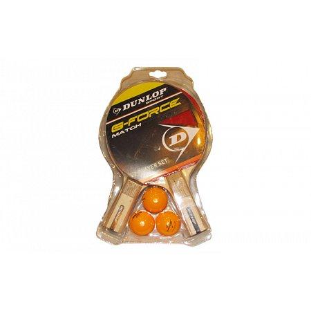 Набор для наст. тенниса DUNLOP (2рак+3шар) 679169 G-FORCE MATCH (древесина, резина, пластик)