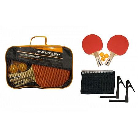 Набор для наст. тенниса DUNLOP (2рак+3шар+сетка+чехол) 679168 G-FORCE (древесина, резина, пластик, NY)