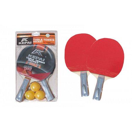 Набор для наст. тенниса KEPAI (2рак+3шар-PVC чехол) KP-0236 (древесина, резина, пластик)