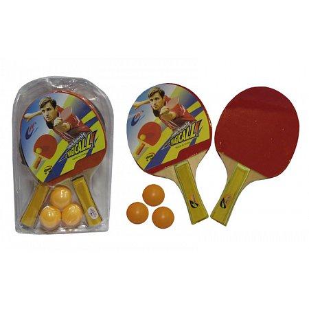 Набор для наст. тенниса Magical (2рак+3шар) MT-666-1 (древесина, резина, пластик)