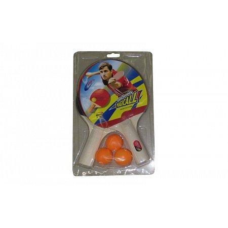 Набор для наст. тенниса Magical (2рак+3шар) MT-705 (древесина, резина, пластик)