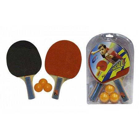 Набор для наст. тенниса Magical (2рак+3шар) MT-805 (древесина, резина, пластик)