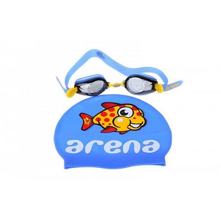 Набор для плавания ARENA детский: очки, шапочка AR-92278-20 MULTI CMBI-ST 2 WD (поликарбонат, TPR,силикон)