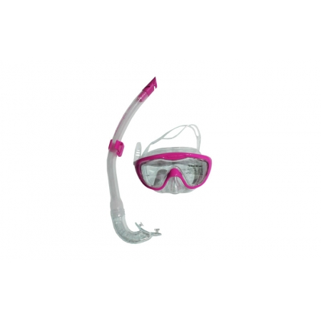 Набор для плавания детский: маска, трубка SPEEDO 8036311341 GLIDE (термостекло, пласт, силикон, роз)