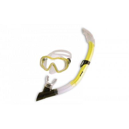 Набор для плавания детский: маска, трубка ZEL ZP-27243-SIL (термостекло,PVC,сил,пласт,желт, красный)