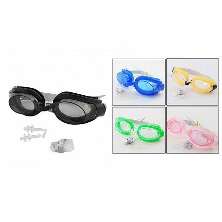 Набор для плавания детский: очки, беруши, зажим SEALS G-1198 (пластик,силикон, цвета в ассортименте)