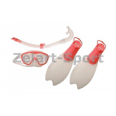 Набор для плавания детский: трубка,маска, ласты SPEEDO 8035931341-33-36 (термостекло,пласт,силикон)