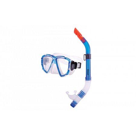 Набор для плавания: маска, трубка ZEL ZP-24621-PVC (термостекло, PVC, пластик, синий, красный)