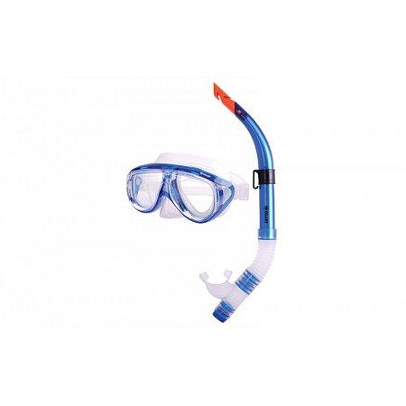 Набор для плавания: маска, трубка ZEL ZP-24822-PVC (термостекло, PVC, пластик, голубой)