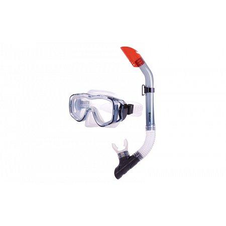 Набор для плавания: маска, трубка ZEL ZP-25128-SIL (термостекло, PVC,силикон,пласт,жел,сини,красный)