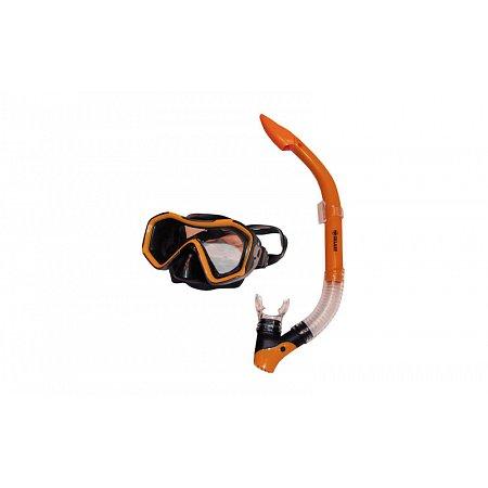 Набор для плавания: маска, трубка ZEL ZP-26027-SIL (термостекло, PVC, силикон,пласт,жел,син,красный)