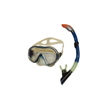 Набор для плавания: маска, трубка ZEL ZP-26542-SIL (термостекло, PVC,силикон,пласт,жел,син,красный)