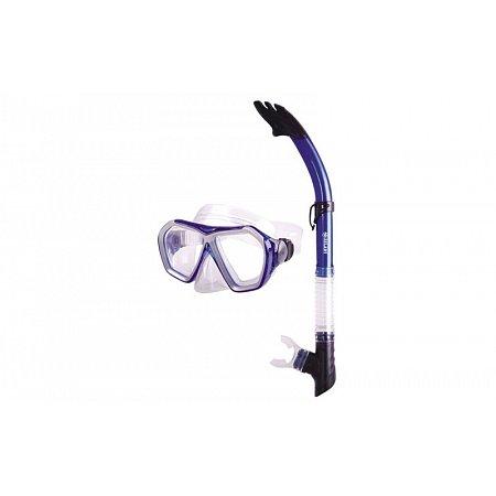 Набор для плавания: маска, трубка ZEL ZP-27745-SIL (термостекло, PVC, силикон, пластик, сиреневый)