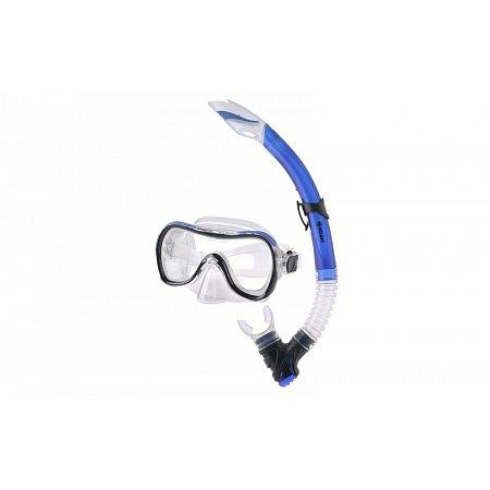 Набор для плавания: маска, трубка ZEL ZP-280A65-SIL (термостекло, PVC,силикон,пласт, син,черн,красн)