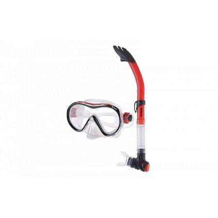 Набор для плавания: маска, трубка ZEL ZP-28161-SIL (термостекло, PVC, силикон,пластик,синий,красный)