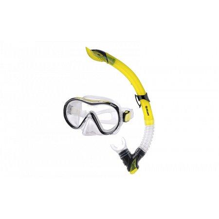 Набор для плавания: маска, трубка ZEL ZP-281A57-SIL (термостекло, PVC, силикон, пласт,синий,красный)