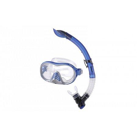 Набор для плавания: маска, трубка ZEL ZP-28957-SIL (термостекло, PVC,силикон,пласт,син,красн,желтый)