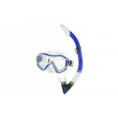 Набор для плавания: маска, трубка ZEL ZP-29641-PVC (термостекло, PVC, пластик, синий, желтый)