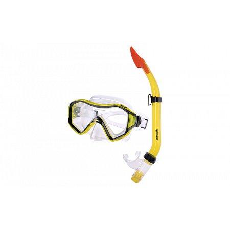 Набор для плавания: маска, трубка ZEL ZP-29644-PVC (термостекло, PVC, пластик, син, желтый, красный)