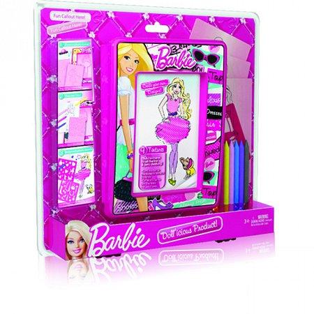 Набор для творчества, восковые мелки и трафареты. Barbie. Mattel, BBMM1