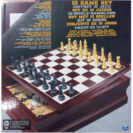 Набор из 10 классических игр (в деревянной коробке), Spin Master, SM98376/6033153