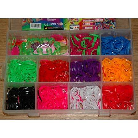 Набор Loom Bands - 1000 резинок Rainbow Loom (Рейнбоу Лум)