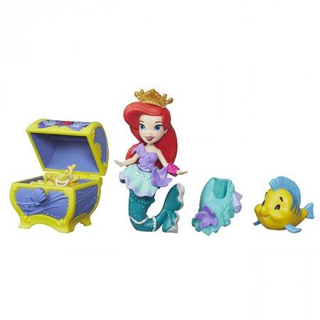 Набор Мини-кукла Ариэль с аксессуарами, Маленькое королевство, Disney Princess Hasbro, B5336 (B5334)