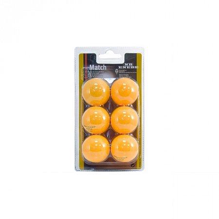 Набор мячей для настольного тенниса Enebe 6 BALLS NB MATCH ORANGE 40MM, 845506