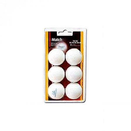 Набор мячей для настольного тенниса Enebe 6 BALLS NB MATCH WHITE 40MM, 845505