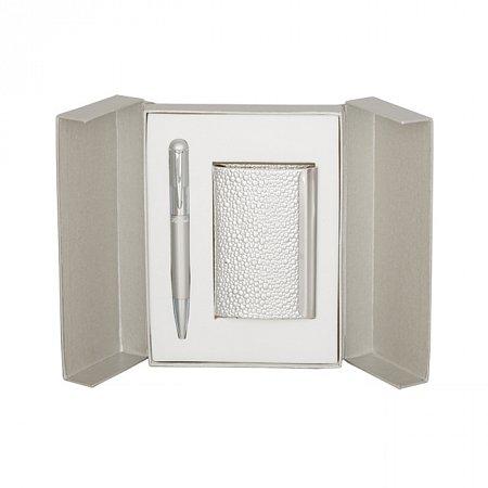 Набор подарочный Langres Fiole: ручка шариковая + визитница, серебро (LS.122009-24) Langres