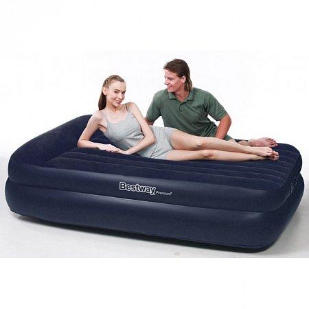Надувная кровать двухспальная (встроенный насос), Bestway 67345