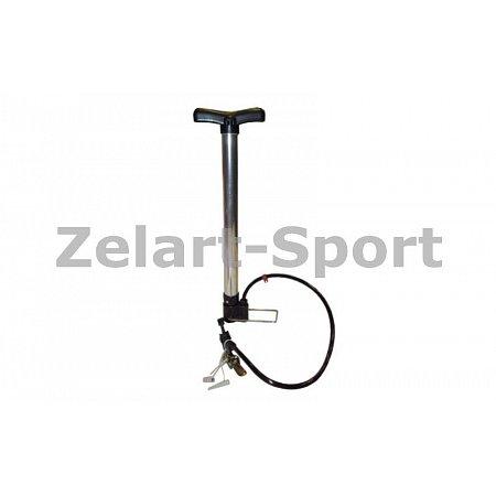 Насос напольный ручной для мячей, велосипедов Luky Sonny XYB-877 (пластик, алюминий, l-43см)