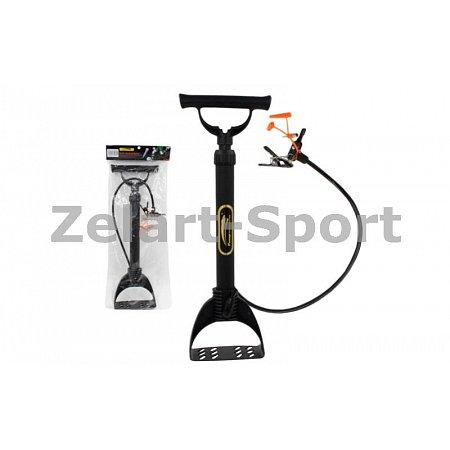 Насос напольный ручной для мячей, велосипедов Sport Pump YB-061 (пластик, l-52см)